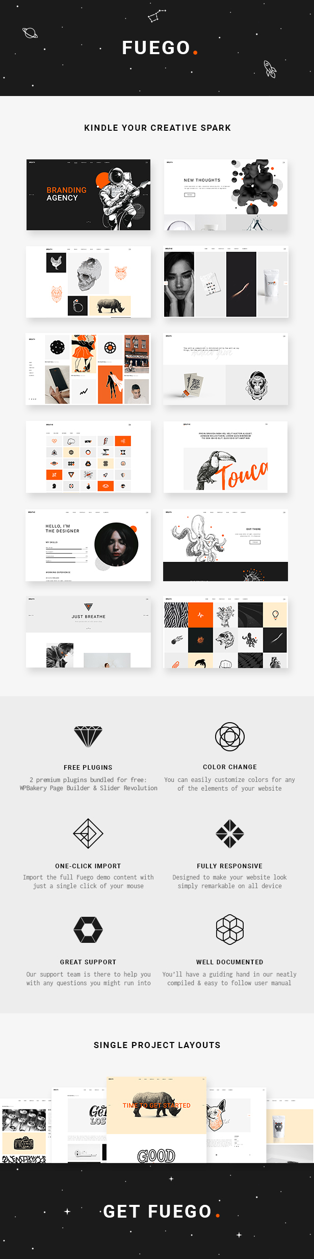 Fuego - Creative Portfolio Theme for Design Agencies - 1